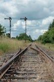 离开的铁路 免版税库存照片