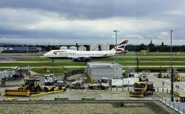 离开的BA 747 库存照片