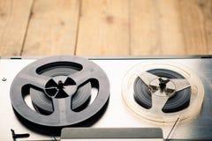 开盘式的录音磁带播放机和记录器 免版税图库摄影