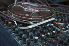 开盘式的磁带 库存图片