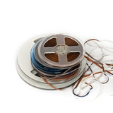 开盘式的磁带 库存照片