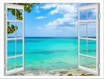 开窗口向海 图库摄影