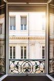 开窗口在图卢兹 免版税图库摄影