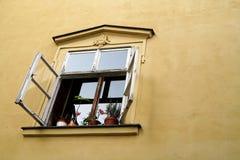开窗口在布拉格 库存照片