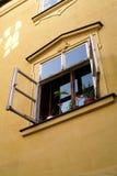 开窗口在布拉格 库存图片