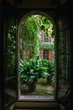 从开窗口的看法 免版税图库摄影