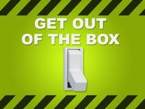 离开箱子概念 库存图片