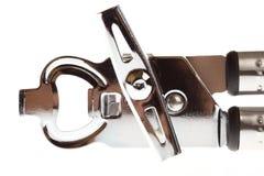 开罐头用具不锈钢供应工具器物 免版税库存照片