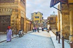 开罗伊斯兰教的邻里  免版税库存照片