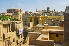 开罗伊斯兰老城屋顶  库存照片