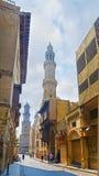 开罗伊斯兰老城的心脏 免版税图库摄影