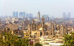 开罗伊斯兰老城看法  免版税库存照片