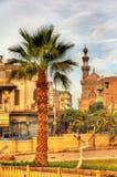 开罗伊斯兰老城看法  免版税库存图片