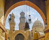 开罗伊斯兰老城建筑学  库存照片