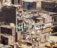 开罗住宅埃及贫民窟 免版税图库摄影