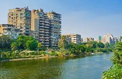 开罗住宅房子  免版税库存图片