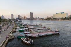 开罗党小船 库存照片