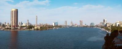 开罗全景在白天 库存图片