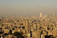 开罗全景视图 免版税库存图片