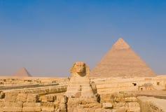 开罗吉萨棉金字塔狮身人面象 库存图片