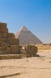 开罗吉萨棉金字塔 免版税库存照片