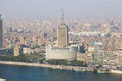 开罗和尼罗河看法  库存照片