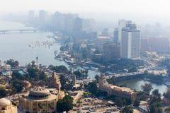 开罗和尼罗河看法  库存图片