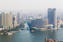 开罗和尼罗河看法  免版税库存图片
