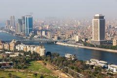 开罗和尼罗河看法  免版税图库摄影