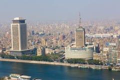 开罗和尼罗河看法  图库摄影
