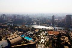 开罗和尼罗河看法  免版税库存照片