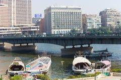 开罗和尼罗河 免版税库存图片