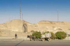 开罗在埃及沿路边缘走 库存照片