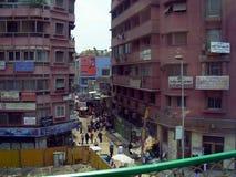 开罗在埃及:街道和大厦 库存照片