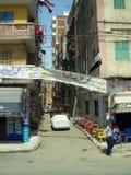开罗在埃及:街道和大厦 免版税图库摄影