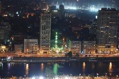 开罗在晚上-埃及 库存图片