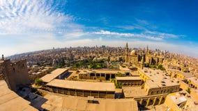 开罗地平线的Fisheye照片  库存照片