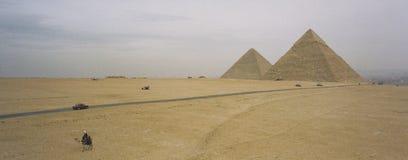 开罗埃及全景金字塔 免版税图库摄影