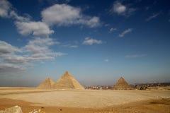 开罗埃及吉萨棉金字塔 免版税库存图片
