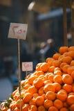 开罗埃及市场桔子街道 免版税库存照片