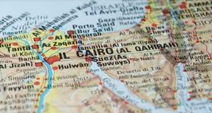 开罗埃及路线图 图库摄影