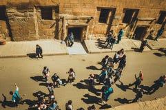 开罗城堡的人们 图库摄影