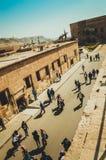 开罗城堡的人们 库存图片