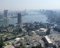 开罗城市视图从Gezira的 免版税图库摄影