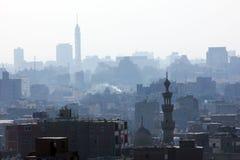 开罗塔和老清真寺 免版税库存图片