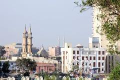 开罗塔和老清真寺 免版税库存照片