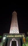 开罗塔夜视图  免版税库存照片