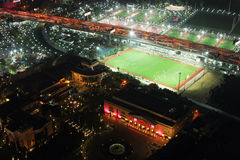 从开罗塔的橄榄球场 免版税库存图片