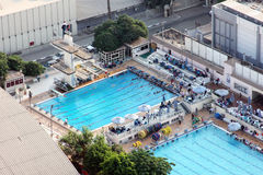 从开罗塔的游泳池 库存照片