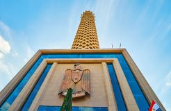 开罗塔,埃及门面  免版税库存图片